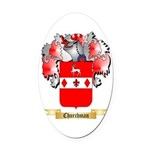 Churchman Oval Car Magnet