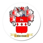 Churchman Round Car Magnet