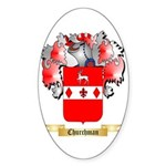 Churchman Sticker (Oval 50 pk)