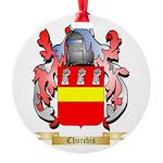 Churchis Round Ornament