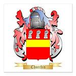 Churchis Square Car Magnet 3