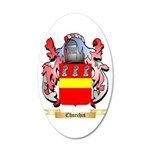Churchis 20x12 Oval Wall Decal