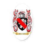 Churchill Oval Car Magnet