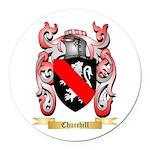 Churchill Round Car Magnet