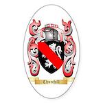 Churchill Sticker (Oval 10 pk)