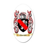 Churchill 20x12 Oval Wall Decal