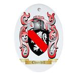 Churchill Ornament (Oval)