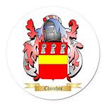 Churches Round Car Magnet