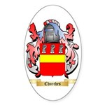 Churches Sticker (Oval)
