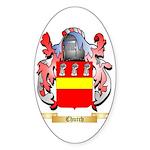 Church Sticker (Oval 50 pk)