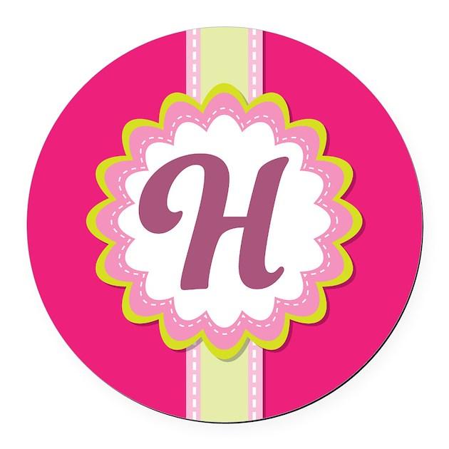 H Letter In Pink Monogram Alphabet Lett...