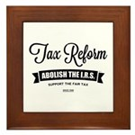 Abolish The I.R.S. Framed Tile