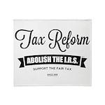 Abolish The I.R.S. Throw Blanket