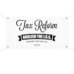Abolish The I.R.S. Banner