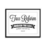 Abolish The I.R.S. Framed Panel Print