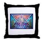 Toltec Warrior Throw Pillow