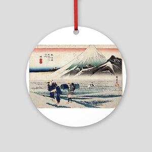 Hara - Hiroshige Ando - 1833 - woodcut Round Ornam