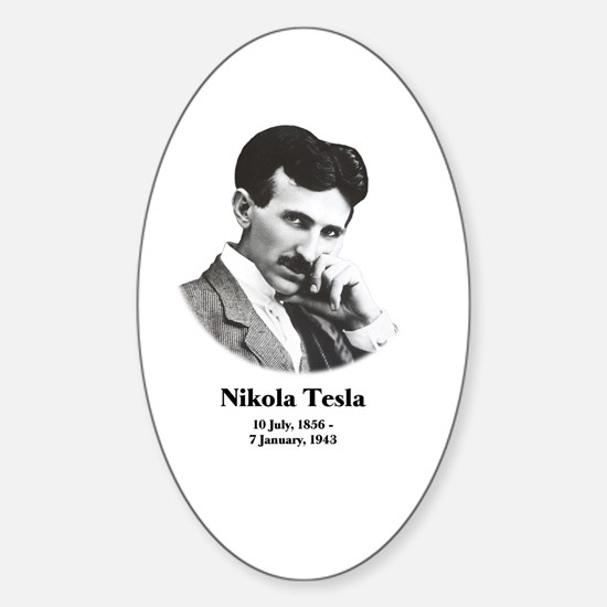 Young Tesla Sticker (Oval)