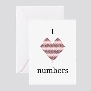 I Heart Numbers Greeting Cards (Pk of 10)