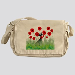 Whimsical Cat Messenger Bag