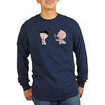 Pobaby&Yaya Long Sleeve Dark T-Shirt (2 colors)