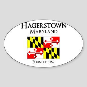 Maryland Flag Oval Sticker