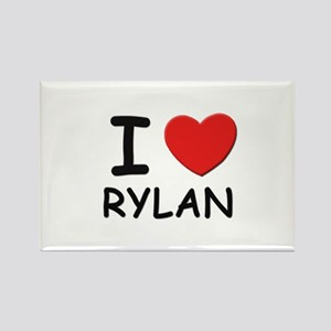 I love Rylan Rectangle Magnet