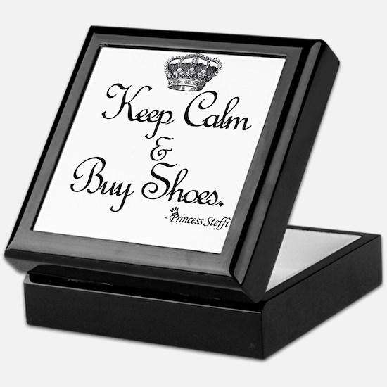 Keep Calm & Buy Shoes Keepsake Box