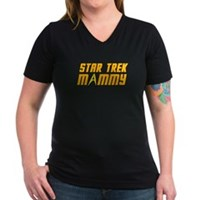 Star Trek Mommy Women's V-Neck Dark T-Shirt