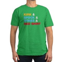 Kirk & Spock & Bones & Red Shirt Men's Fitted T-Sh