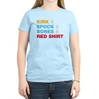 Kirk & Spock & Bones & Red Shirt Women's Light T-S