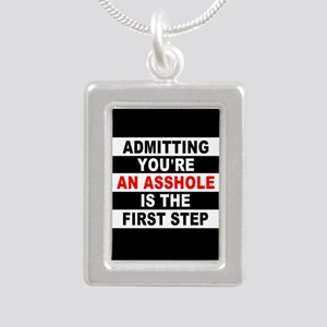 AA The First Step is... Silver Portrait Necklace