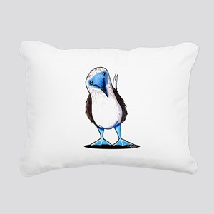Blue Footed Booby Rectangular Canvas Pillow