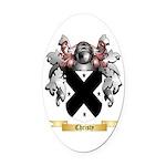 Christy Oval Car Magnet