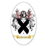 Christy Sticker (Oval 50 pk)