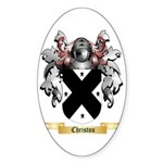 Christou Sticker (Oval)