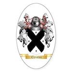 Christou Sticker (Oval 50 pk)
