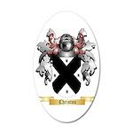 Christou 35x21 Oval Wall Decal