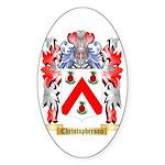 Christopherson Sticker (Oval 50 pk)