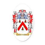 Christopher Oval Car Magnet