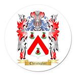 Christopher Round Car Magnet