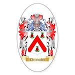Christopher Sticker (Oval 10 pk)