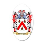 Christopher 20x12 Oval Wall Decal