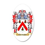 Christopher 35x21 Oval Wall Decal