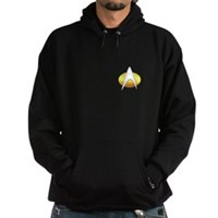 Star Trek Insignia Badge Chest Hoodie (dark)