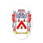Christon Oval Car Magnet