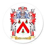 Christofor Round Car Magnet