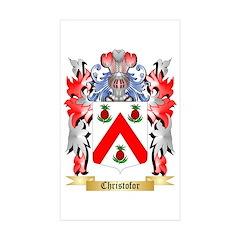 Christofor Sticker (Rectangle 50 pk)