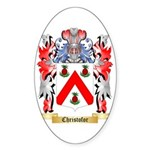 Christofor Sticker (Oval 10 pk)