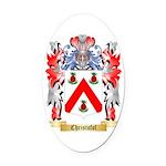 Christofol Oval Car Magnet